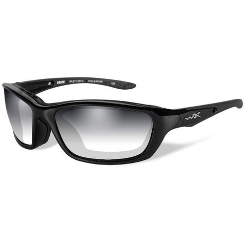 Wiley X Brick Sunglasses, Metallic Black Frame, Photochromic Smoke Grey Lens