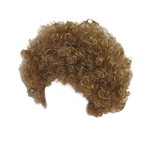 SeasonsTrading Economy Brown Afro Wig ~ Halloween Costume Party Wig (STC13034)
