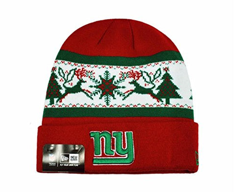 NEW ERA NFL Knit Fillz New York Giants Beanie Christmas Red Headwear HAT
