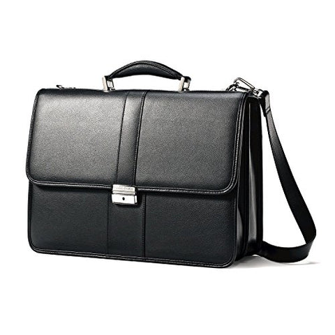 SAMSONITE 43120-1041 Samsonite Leather Briefcase & Reviews | Wayfair