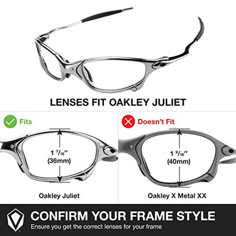 1b70138bc6 Revant Replacement Lenses for Oakley Juliet 3 Pair Combo Pack K014 ...