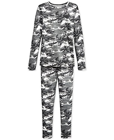 32 Degrees Weatherproof Big Boy's Base Layer Thermal Set, XL, Gray Camo