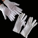 Amscan Santa Gloves, One Size Fits All, White