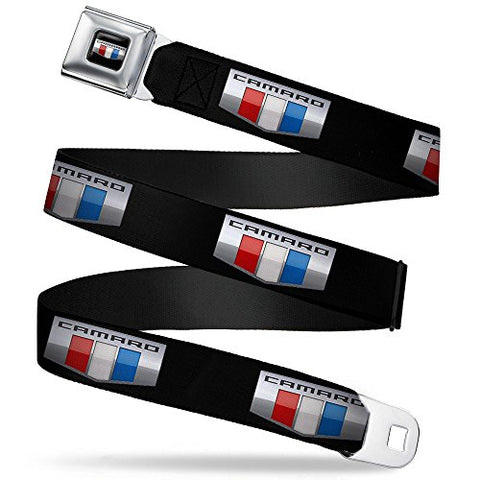 Camaro Six Badge Black/silver/red/white/blue Repeat Seatbelt