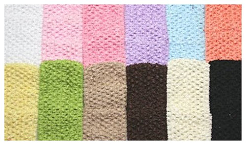 BotiqueCutie TM 2.75  Crochet Headband Variety Pack in Basic Colors