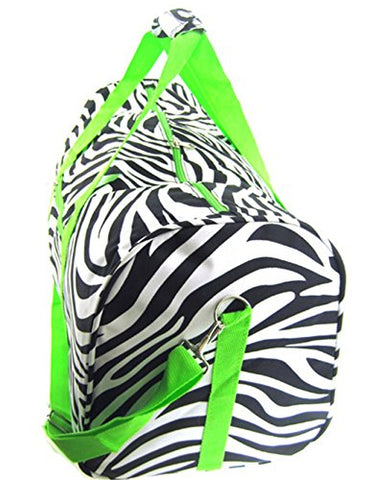Zebra Lime Green Duffel Bag 22