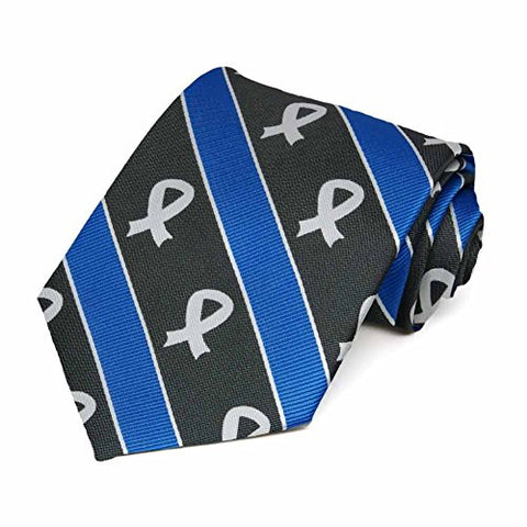 Lung Cancer Awareness Striped Tie