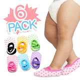 6 Pairs of NonSlip Infant/Toddler Ballet Style Baby Girl Socks for 9-32mos.