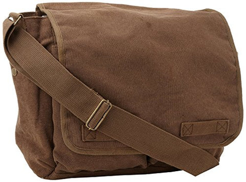 Brown Original Heavyweight Classic Heavyweight Messenger Bag with Army Universe Pin