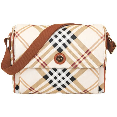 Jill-e Designs E-GO Tablet Messenger (Tan Plaid)