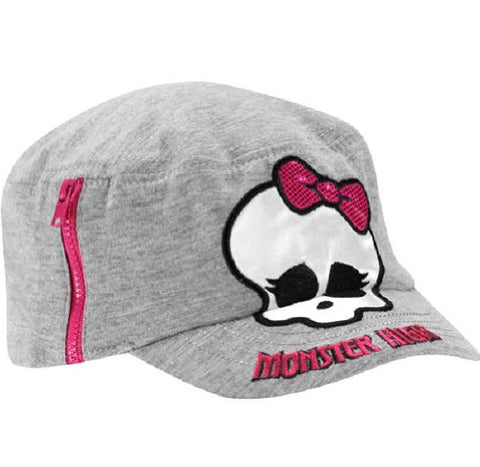 Monster High Hat | Girls Cadet Cap - Gray | Offical Licensed