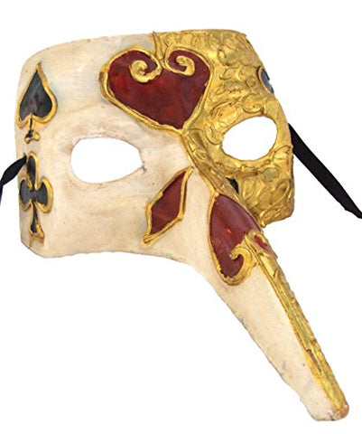 Venetian Mask Card Suite Long Nose Masquerade Drama Ball
