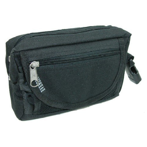Everest Fabric Big and Tall Waist Pack/Belt Bag Extended Size, Black