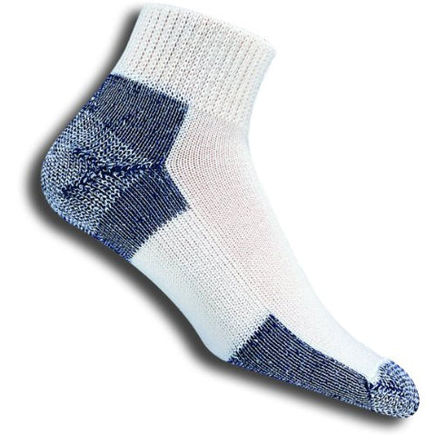 Thorlos Men's / Women's Thick Cushion Running Quarter Socks, X-Large (Mens Shoe 13-15)