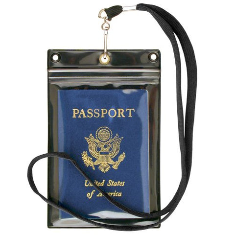 StoreSMART - Zipper Passport Holder w Lanyard - Clear Front - - SPCR1596ZIPS-2