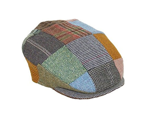 Patchwork Cap Irish Tweed Hanna Hats Hand Sewn Donegal Town Large