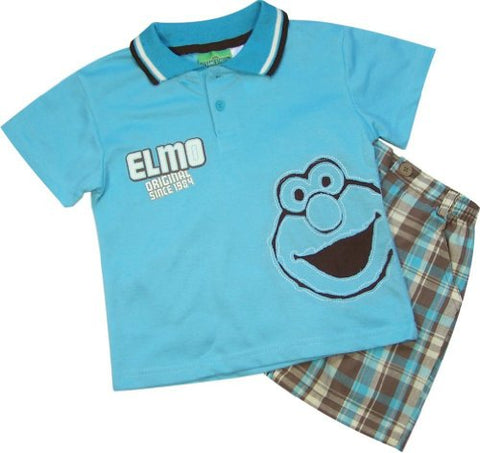 Sesame Street Elmo Polo Shirt Shorts Set (12M)