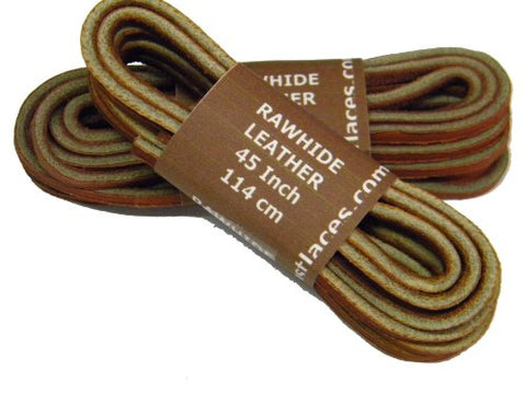TAN Replacement Boat Shoe Leather Shoelaces - 2 Pair Pack (45)