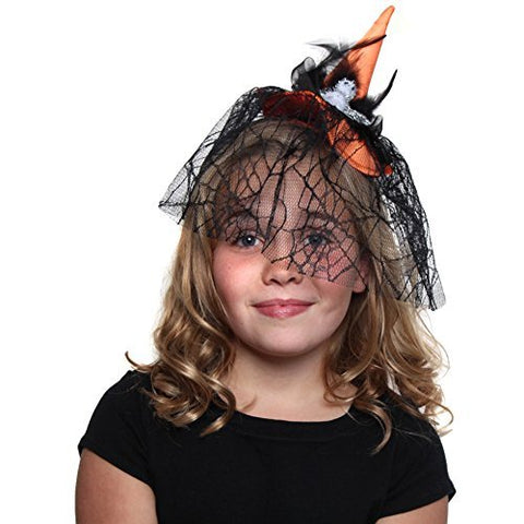 Orange Witch Hat Headband