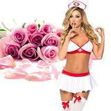 ADOGO Lingerie Nurse Sexy Costume Outfit Set Babydoll Bedroom Honeymoon Cosplay Nurse Clothing Fits Free Size