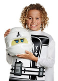 Zane LEGO Ninjago Movie Classic Costume, White, Medium (7-8)