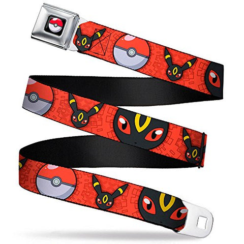 Umbreon Face/poke Ball/face Close-up Reds Seatbelt Belt