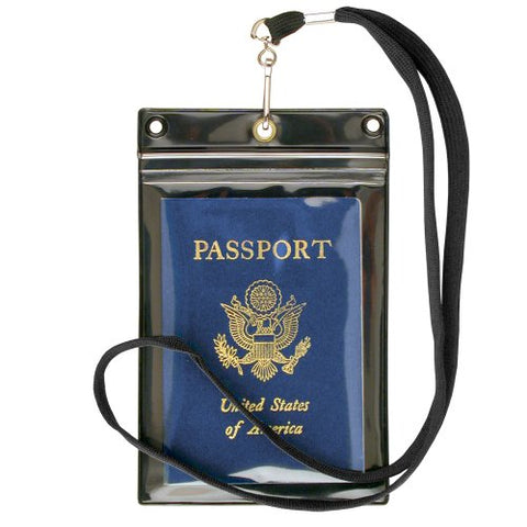 StoreSMART- Zipper Passport Holder w Lanyard -Black Back -6-Pack- SPCR1596ZIPS-6