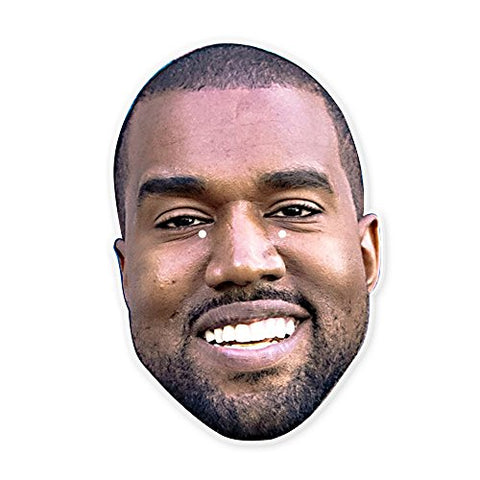 Happy Kanye West Mask - Perfect for Halloween, Masquerade, Parties, Events, Festivals, Concerts - Jumbo Size Waterproof Laminated
