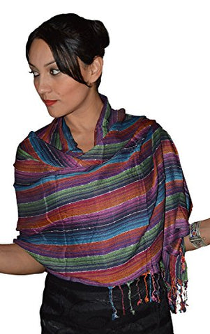 Moroccan Shoulder Shawl Breathable Oblong Head Scarf cotton Exquisite Wrap