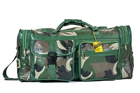 TINDER Genuine Leather Americana Camouflage Convenience Duffle Bag PM433-G