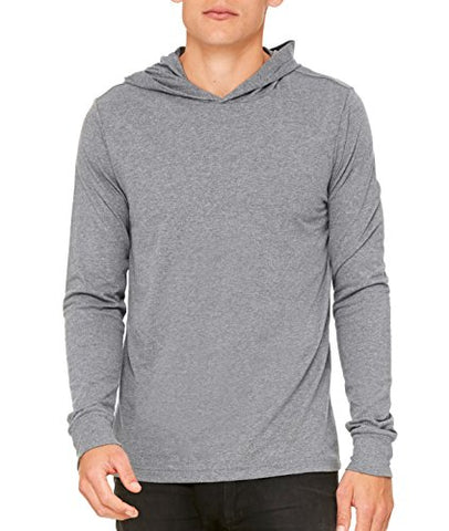 Canvas for Men's Driftwood Long-Sleeve Jersey Hoodie - DEEP HEATHER - X-Large