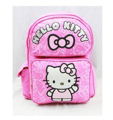 Sanrio Hello Kitty Medium Backpack - Pink with Pink Glitter