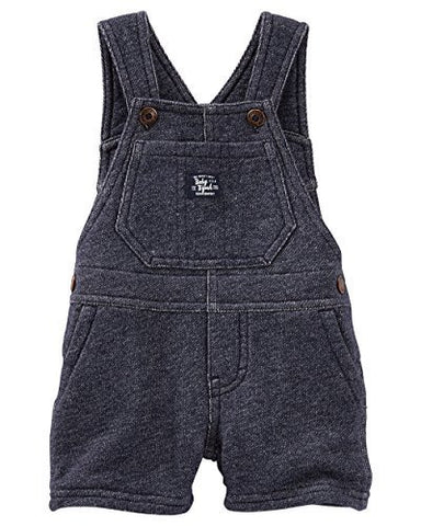 OshKosh B'gosh Baby Boys' French Terry Shortalls - Denim - 9 Months