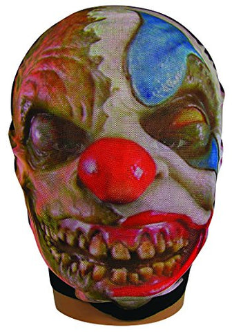 Creepy Mesh Sheer Stretch Evil Clown Mask Morph Costume Accessory Wicked Freak