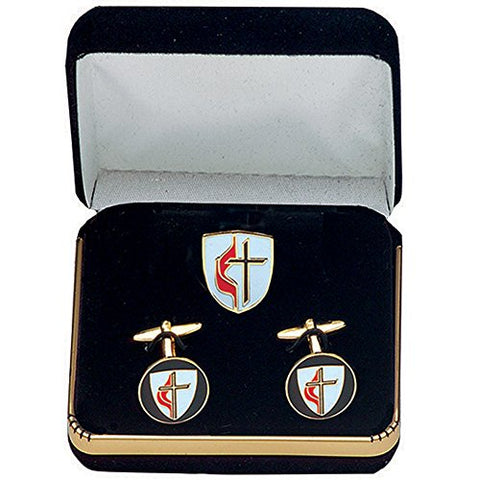 United Methodist Cuff Link Set - B-101-C