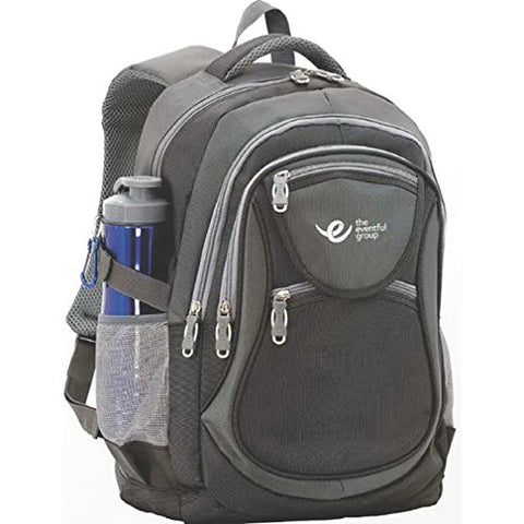 Pickleball Marketplace  All-In-1  Backpack - New - Black & Grey