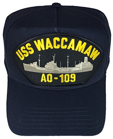 USS WACCAMAW AO-109 HAT - Navy Blue - Veteran Owned Business
