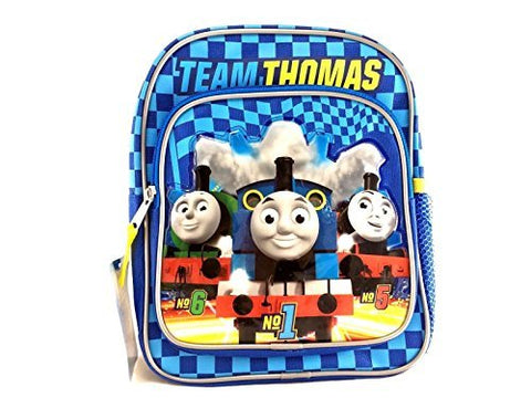 Team Thomas the Train Engine Mini 10  Canvas Blue School Backpack - No1 Thomas