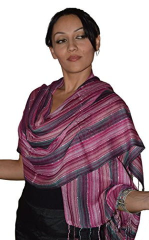 Moroccan Shoulder Shawl Breathable Cotton Oblong Head Scarf Silky Soft Exquisite Wrap Pink