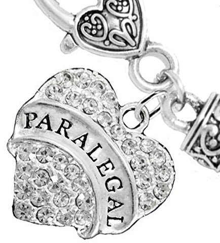 Paralegal Heart Charm Bracelet2016 Hypoallergenic, Safe, Nickel, Lead, & Cadmium Free!