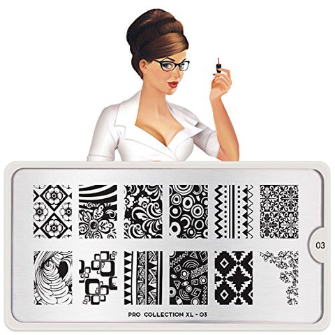 MoYou-London Nail Stamping Plate Pro XL Collections US STOCK (Pro XL 03)