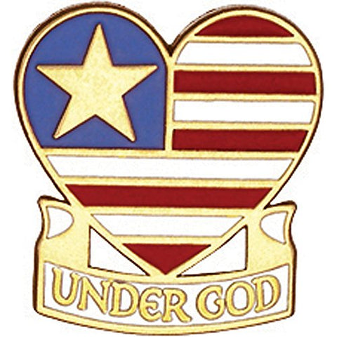 Under God 3/4  Lapel Pin B-109