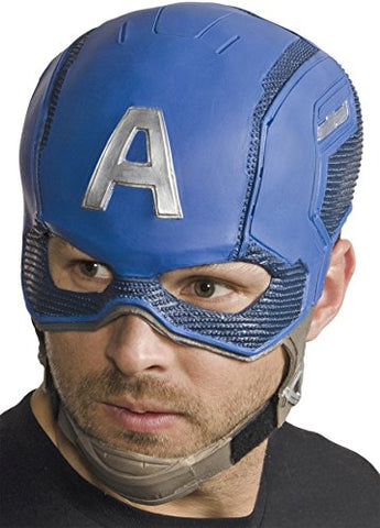UHC Men's Leader of the Avengers Captain America Helmet Halloween Costume Mask