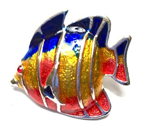 Tropical Fish Pin Brooch colorful