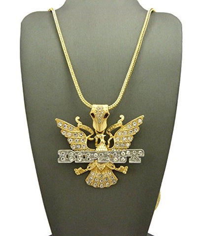 NEW ICED OUT DIPSET PENDANT & 30  FRANCO CHAIN HIP HOP NECKLACE - XP130FRGT