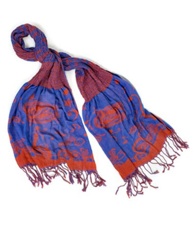 Official NCAA Florida Gators Thin Crinkle Shawl Scarf