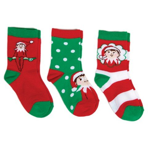 Toddler Elf On The Shelf Casual Socks - Green 5-6.5