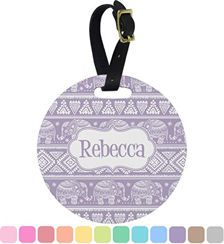 Baby Elephant Round Luggage Tag (Personalized)
