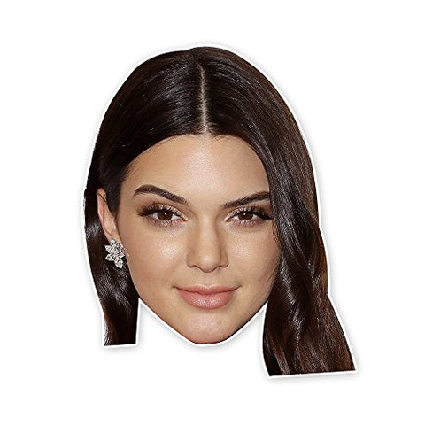 Kendall Jenner Mask - Perfect for Halloween, Masquerade, Parties, Events, Festivals, Concerts - Jumbo Size Waterproof Laminated