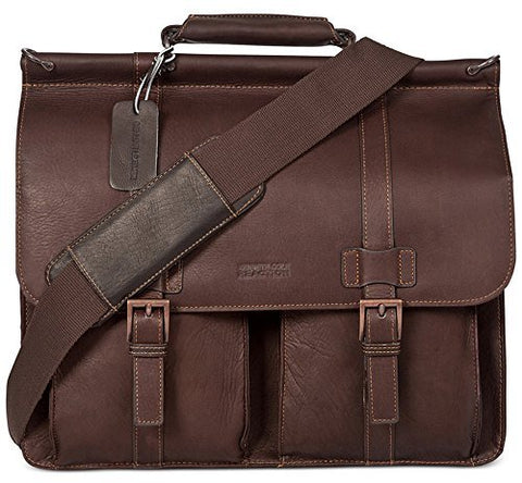 Kenneth Cole Reaction Leather Mind Your Own Business Laptop Case - Brown